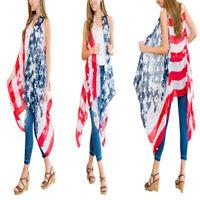 Women's 4th of July American Flag Cardigan