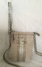 GUESS Faux Leather/Fabric Cross Body/Shoulder Bag / Handbag
