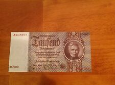 Germany 1936 1000 Reichsmark A- Prefix  P-184>  UNC