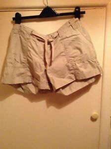 Shorts - Beige Cargo Shorts Size 16 by New Look