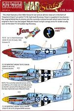 Kits World Decals 1/48 P-51 MUSTANG Fighter Jan & Impatient Virgin (2 Versions)