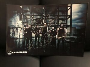 Rammstein - Signed 12 x 17 3/4 Band Photo