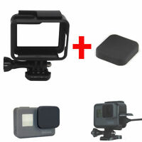 Standard Frame Mount for GoPro HERO5 HERO 5 6 Camera and Silicon Lens Cap Cover
