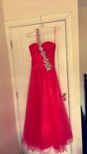 2014 Collection Pink Jewelled ball gown, fit and flare style prom dress Size 10