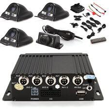 4ch Car Mobile DVR SD Card Realtime Video Recorder  + 4 Camera + Cable + Remote