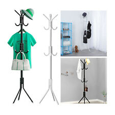 Metal Organizer Coat Rack Hat Bag Stand Tree Clothes Umbrella 12 Hooks 3 -Tiers