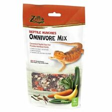 Zilla Reptile Food Munchies Omnivore Mix - 4 oz  for Bearded Dragons Box Turtles