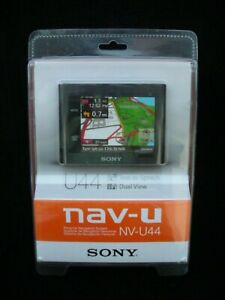 NIB! SONY MODEL NV-U44 GPS NAVIGATION / CAR MOUNT & CAR CHARGER BUNDLE NEW