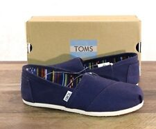 Toms Classic Navy Blue Canvas Shoes Women's Size 7 MED Flats 10000873 Slip-on