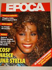 EPOCA=1986/1861=WHITNEY HOUSTON COVER MAGAZINE=LICATA VISIONI=JOHN LE CARRE'=
