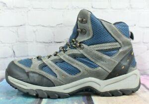 LL BEAN Dri-Lex 05455 Men's Blue Suede Nylon Winter Hiking Boots Size 12