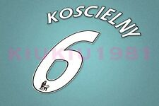 Arsenal Koscielny #6 PREMIER LEAGUE 07-13 White Name/Number Set