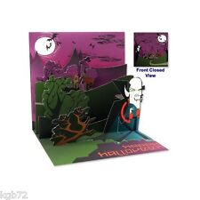 Vintage Vampire Pop Up Greeting Card Up With Paper Treasures # 1069 Halloween
