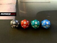 4x MTG Magic The Gathering Dice D20 Die THEROS Dices Red Green Blue Black