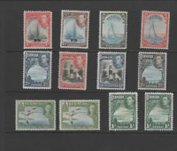 BERMUDA 1938-52 KGVI  SET  OF 12 (SG 110-115a)  MINT CV £165