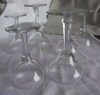 Vintage Wine//Aperitif  6  Glasses