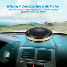 Car Air Purifier Air Anion Hepa Filter Smoke Odor Ionizer Cleaner Freshener New
