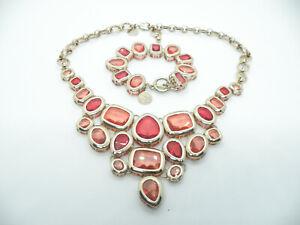 Authentic White House Black Market Designer Jewelry Necklace & Bracelet Set