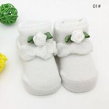 0-6 Month Cute Newborn Baby Girl Boy Anti-Slip Cotton Socks Slipper Shoes Boots