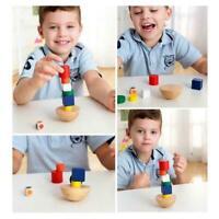 NEW Hemisphere Balance Game Educational Building Blocks Toy Wooden F8C0