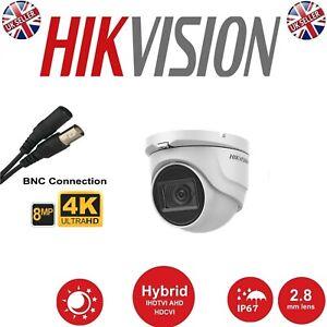 HIKVISION CCTV CAMERA UHD 4K 8MP 30M EXIR NIGHT VISION DOME DS-2CE76U1T-ITMF UK