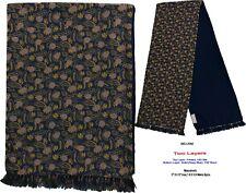 Unisex Premium Quality Unique Reversible Wool & Silk Long Scarf Paisley 2092