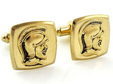 Vintage Warrior Cufflinks Hickok Greek Roman Soldier