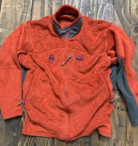 PATAGONIA Men's XXL R2 Regulator Polartec Fleece Jacket Orange USA MADE