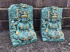 Vintage Mayan Green Fuchsite Book Ends Rare