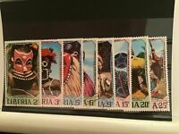 Liberia masks cancelled stamps R21821