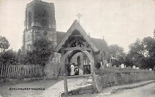 SPELDHURST KENT UK CHURCH PHOTOCHROM PUBL POSTCARD1927 PSTMK TUNBRIDGE WELLS