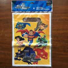 DC Justice League  Animated JLU Birthday Party Treat Bags New Sealed
