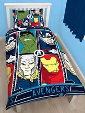 Single Bed Avengers TECH Duvet Cover Set Hulk Thor Iron Man Captain America
