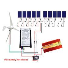 400W Wind Generator&20A Controller &1600W Solar Panel & 1.5KW Off Grid  Inverter