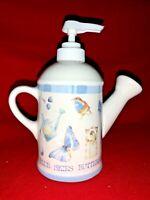 Vintage MARJOLEIN BASTIN Blue Skies Butterfly Soap Lotion Dispenser ❤️sj11h5s