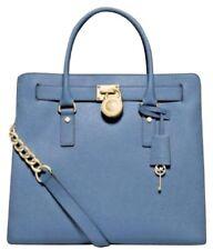 MICHAEL KORS HAMILTON CORNFLOWER BLUE SAFFIANO LEATHER TOTE BAG PURSE $358 *NWT*