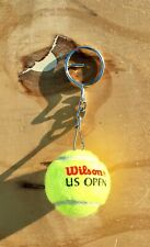 Wilson U.S. Open Tennis Ball Mini Keychain w/ Ring (Sport)