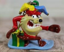 "Warner Brothers Taz Tasmanian Devil On Snowboard Christmas 2"" Keychain"