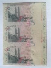 Malaysia RM5 Uncut 3 in 1 Banknotes