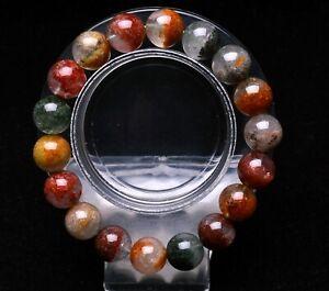 11.5mm Natural Colorful Phantom Ghost Garden Quartz Crystal Beads Bracelet AAAA