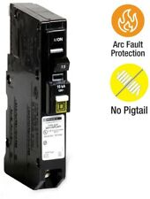 Circuit Breaker 15 Amp 3/4 in. Single-Pole Plug-On Neutral Combination Arc Fault