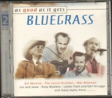 BLUEGRASS As Good as it Gets 2 CD 52 track NEW 2000 DISKY