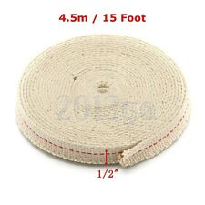 """1/2"""" Flat Cotton Oil Lamp Wick 15foot Roll For Oil Lamps and Lanterns CG"""