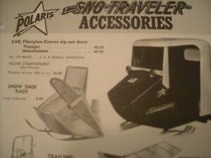 1964 Vintage POLARIS Sno Traveler Accessories Snowmobile Dealer Brochure