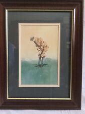 D Nichols Golf Print Picture Framed And Double Matted