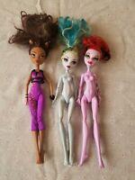Monster High Doll Lot of 3: Operetta, Clawdeen & Abbey 2008 & 2011