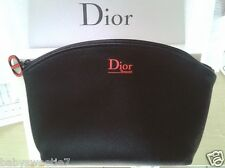 Christian Dior Beauty Cosmetics Makeup Bag Pouch CD Black Pouch