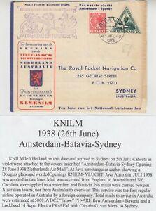 NETHERLANDS 1938 KNILM RETURNED FFC *AMSTERDAM-SYDNEY-AMSTERDAM* via BATAVIA