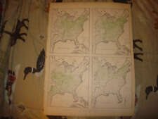 ANTIQUE UNITED STATES MAP CORN AGRICULTURE DAIRY MILK N
