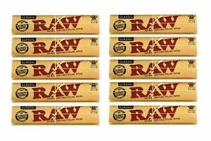 1,5,10 x RAW CLASSIC KING SIZE BOOKLET PAPERS -110mm Natural Unrefined AUTHENTIC